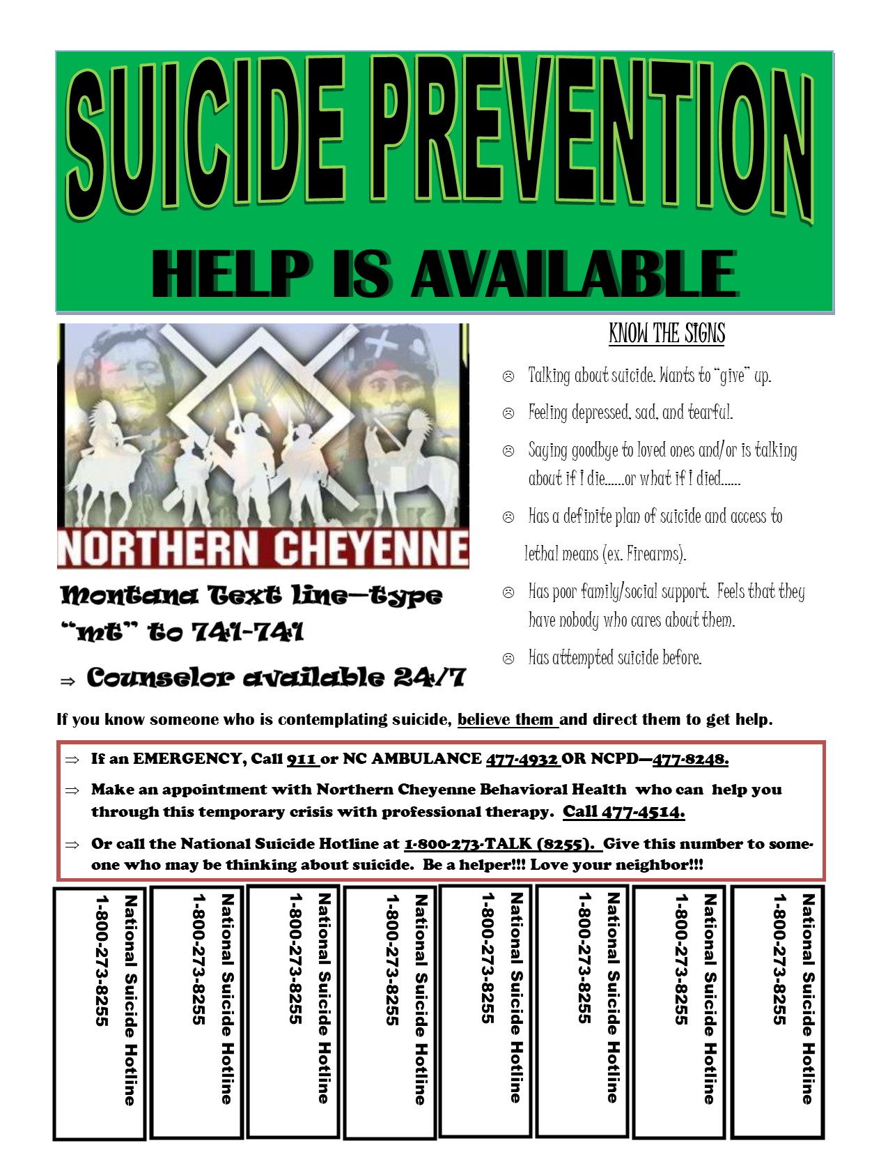 suicide poster
